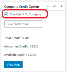 Company Credit Options'