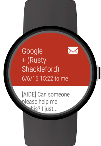 Mail client for Wear OS watches ss3