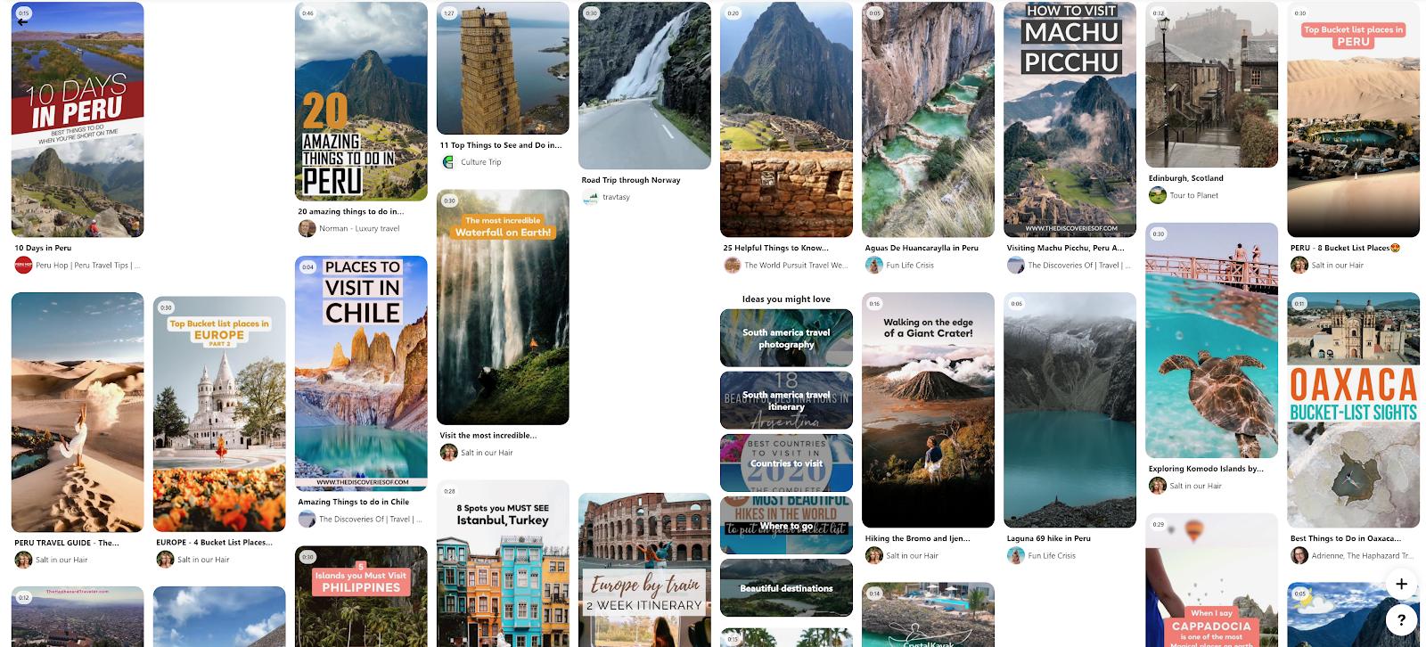 Pinterest explore