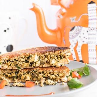 Tofu Red Chard Scramble Sandwich