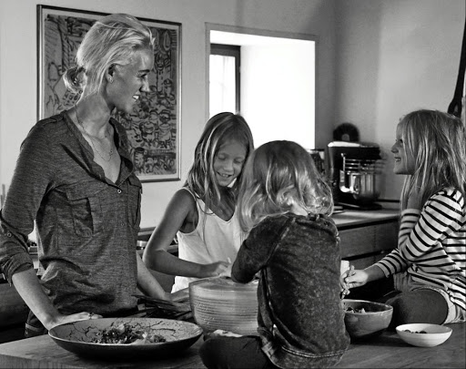 Nadine Levy Redzepi and her three daughters, who inspired her to write a recipe book.
