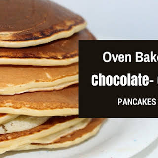 Oven Baked Chocolate Chip Pancakes.