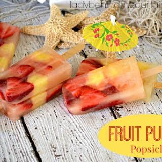 Fruit Punch Popsicles.