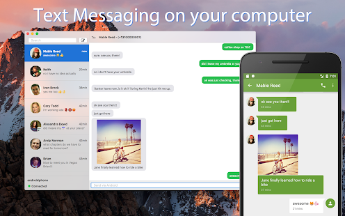 SMS & MMS Text Messaging via macOS & Windows - náhled