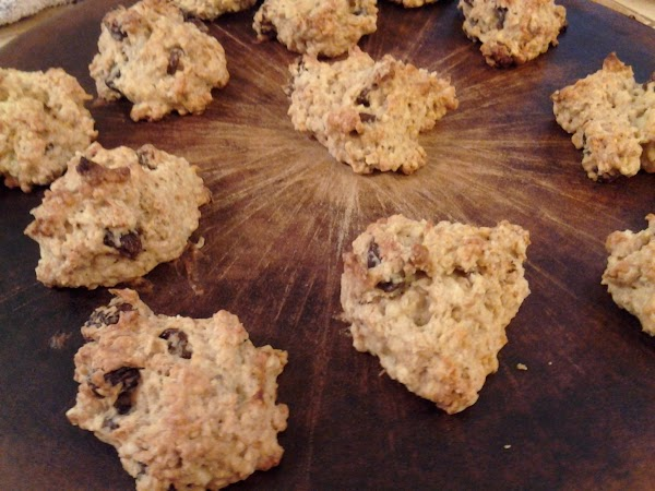Drop by teaspoonfuls onto a cookie sheet that's been lightly coated with cooking spray...