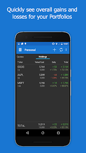 My Stocks Portfolio and Widget - náhled