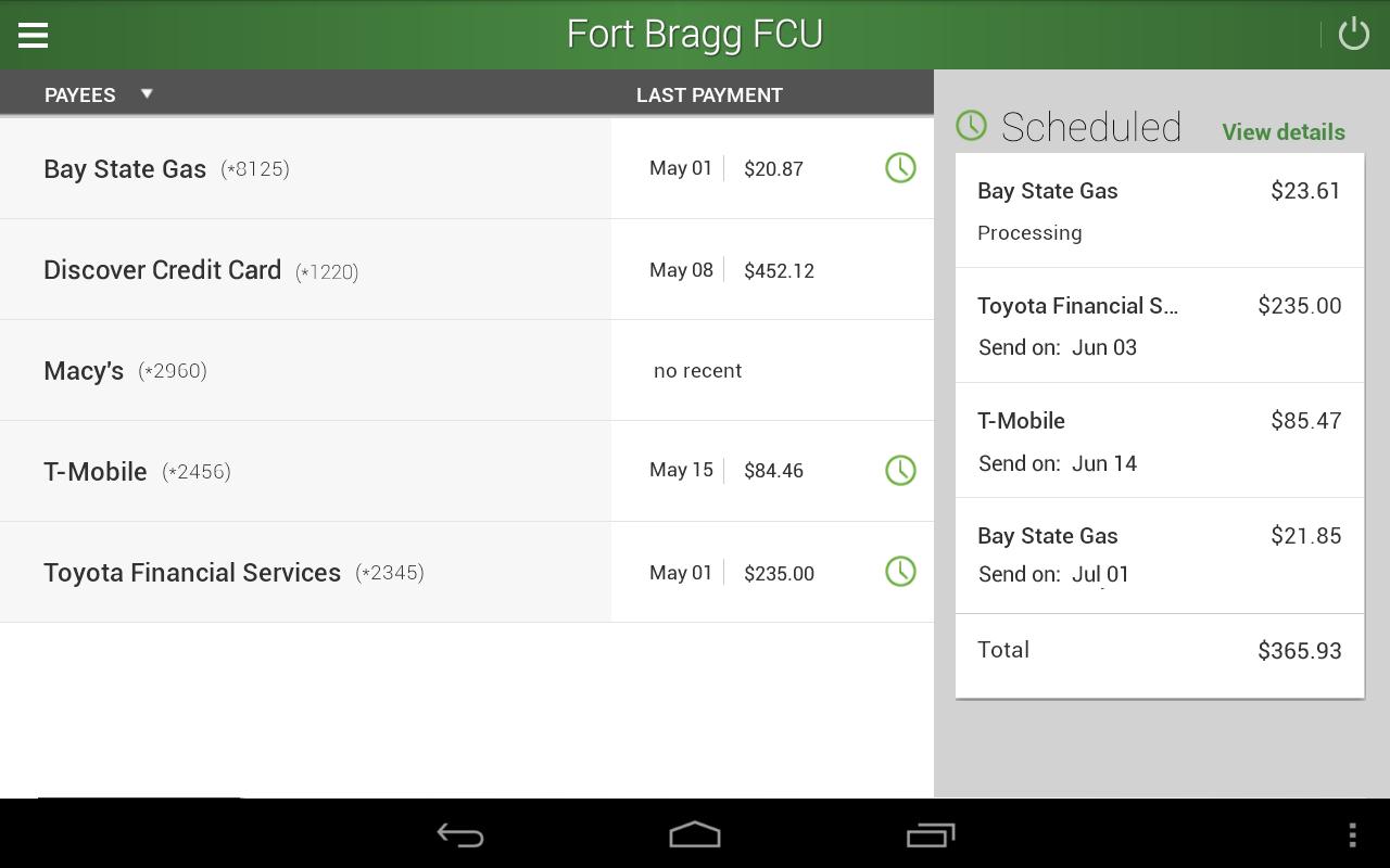 FBFCU Mobile Banking- screenshot