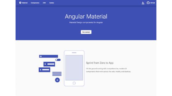 Angular UI Framework:Angular Material