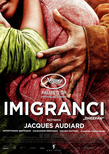Przód ulotki filmu 'Imigranci'