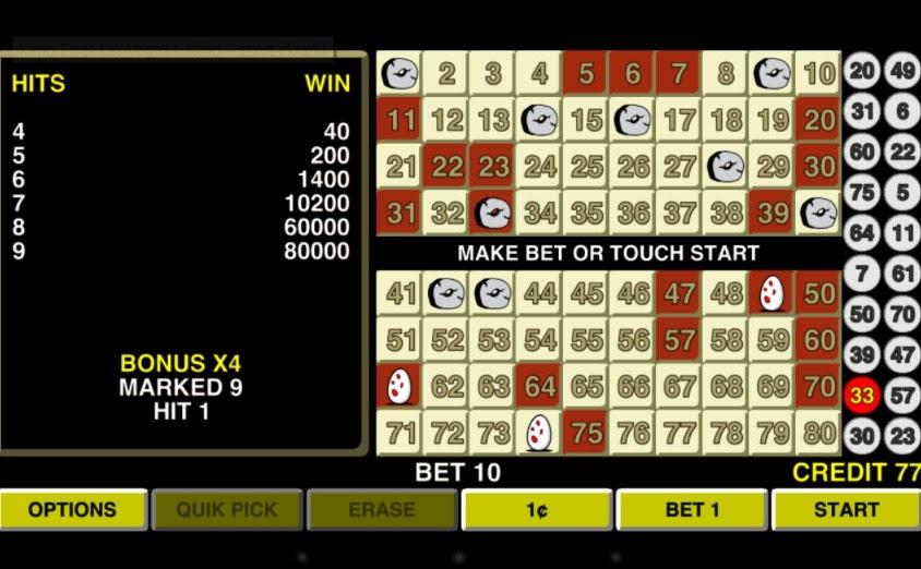Keno Eggs Las Vegas Casino