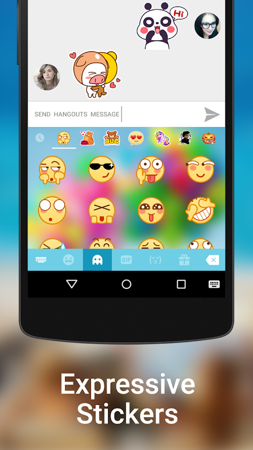 Screenshots of Kika Keyboard - Emoji, GIFs for iPhone