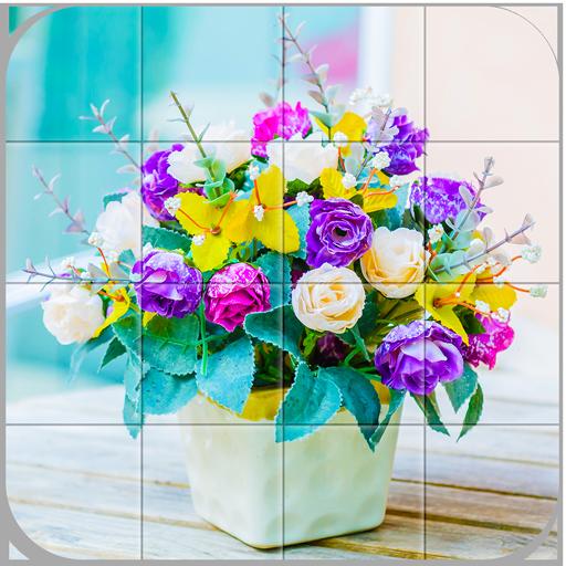 Tile Puzzle Flowers Bouquet