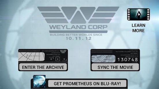 Prometheus Weyland Corp App- screenshot thumbnail
