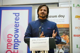 Photo: Vivek Oberoi addressing the guests