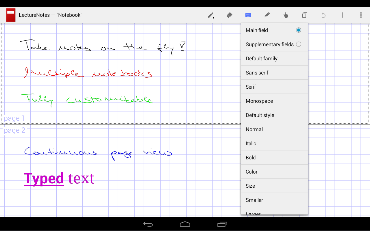 LectureNotes (Trial Version)- screenshot