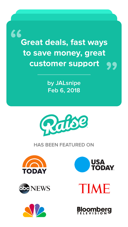 Raise - Discounted Gift Cards- screenshot