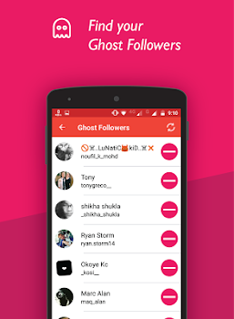 Unfollowers and Ghost Followers for Instagram