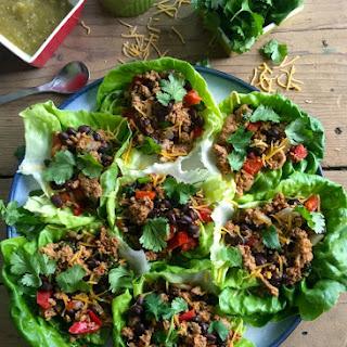 Mexican Turkey Lettuce Wraps.