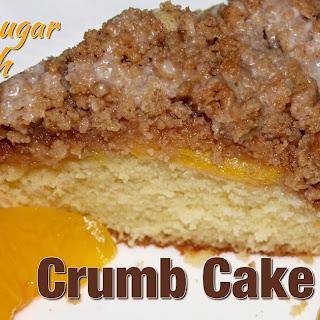 BROWN SUGAR PEACH CRUMB CAKE.