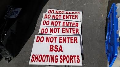 Photo: Do Not Enter Shooting sports sign