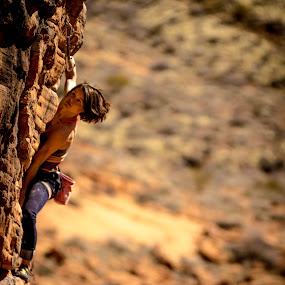 Focus by Ryan Skeers - Sports & Fitness Climbing ( girls, rock climbing, climbing, girls climbing, st george utah )