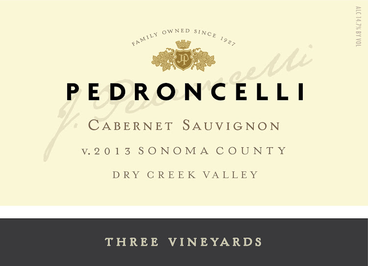 Logo for Pedroncelli Winery Three Vineyard Cabernet Sauvignon