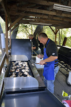 Photo: Brad Grilling the Chicken for Tonight's Dinner