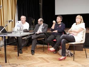 Photo: Kerekasztal Földes György, Miklósi László (moderátor), Gyurgyák János és Schmidt Mária