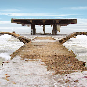 Slide by Alex Alex - Buildings & Architecture Other Exteriors ( black sea, ice, sea, slide, frozen )