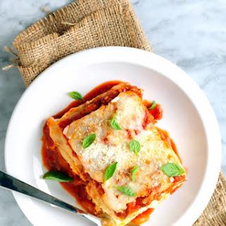 Classic Three-Cheese Lasagna