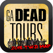 GA DEAD TOURS - TWD LOCATIONS MAP