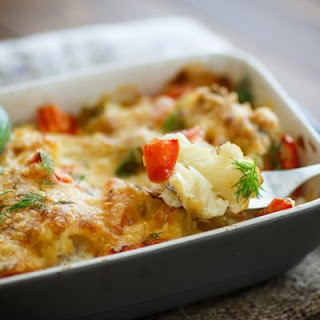 Tender And Cheesy Cauliflower Bake