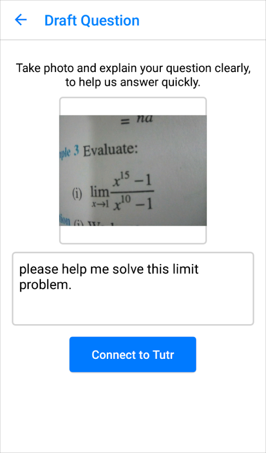 m-Tutr - Instant Homework Help- screenshot