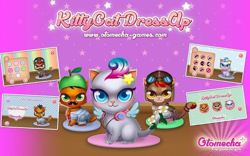 kids girls Dress Up pet kitty