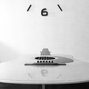 Six string  by Joachim Persson - Artistic Objects Musical Instruments ( six string, clock, black and white, acoustic, guitar, bnw, six )