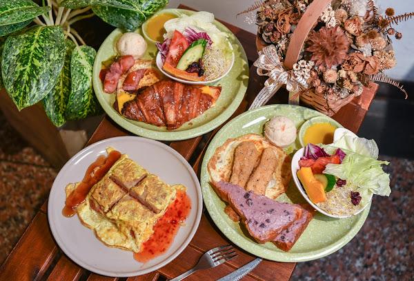 深呼吸早午餐廚房:嘉義西區美食-在地人都吃過的平價大份量美味早午餐,必點特色餐點泰式千層糕!