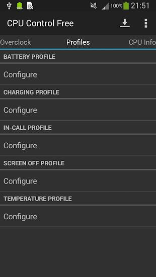 CPU Control Free- screenshot thumbnail
