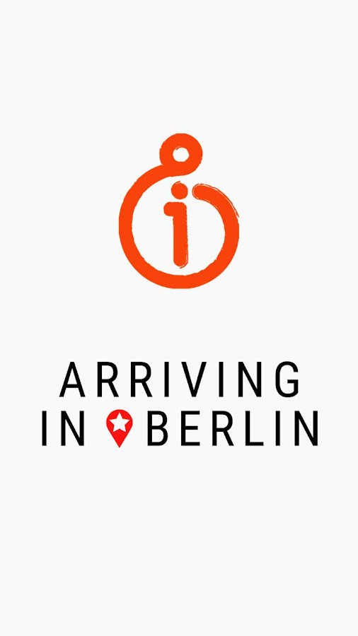 Arriving in Berlin App- screenshot