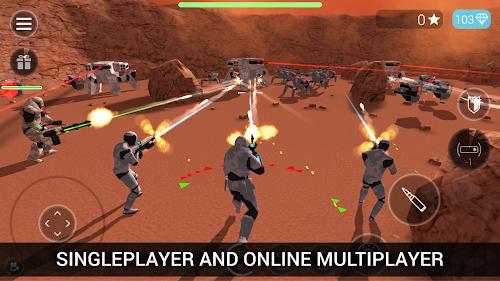 Screenshot 1 CyberSphere: TPS Online Action Game 1.73 APK MOD