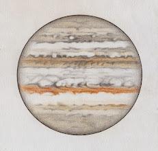 Photo: Jupiter le 18 février 2015, entre 21h05 et 22h30 TU.  T406 à 350X en bino. Bon seeing.