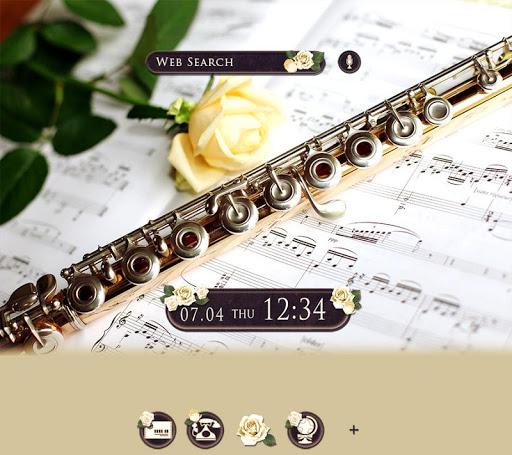 Elegant Wallpaper Rose & Flute Theme 1.0.0 Windows u7528 1