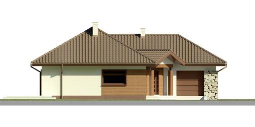 Dom przy Bajecznej 2 - Elewacja przednia