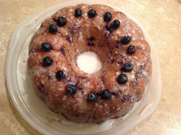Greek Yogurt Blueberry Lemon Glazed  Bundt Cake Recipe