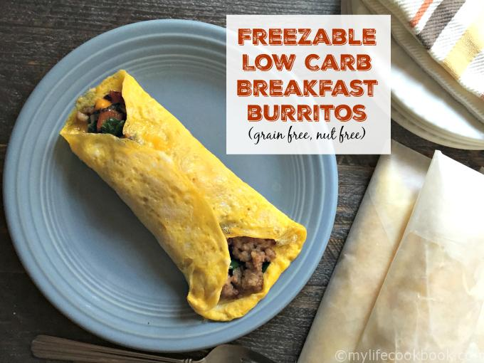 Freezable Low Carb Breakfast Burritos (Grain Free) Recipe
