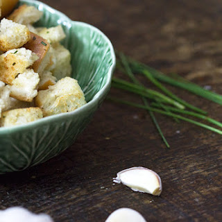 Homemade Croutons with Garlic and Herbs