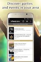 Screenshot of whami partyfinder & eventradar