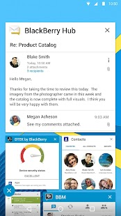 BlackBerry Hub Screenshot