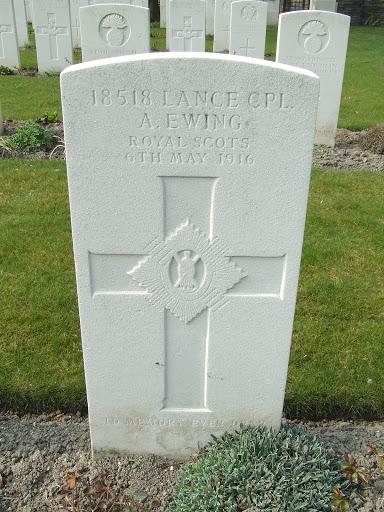 Archibald Ewing grave