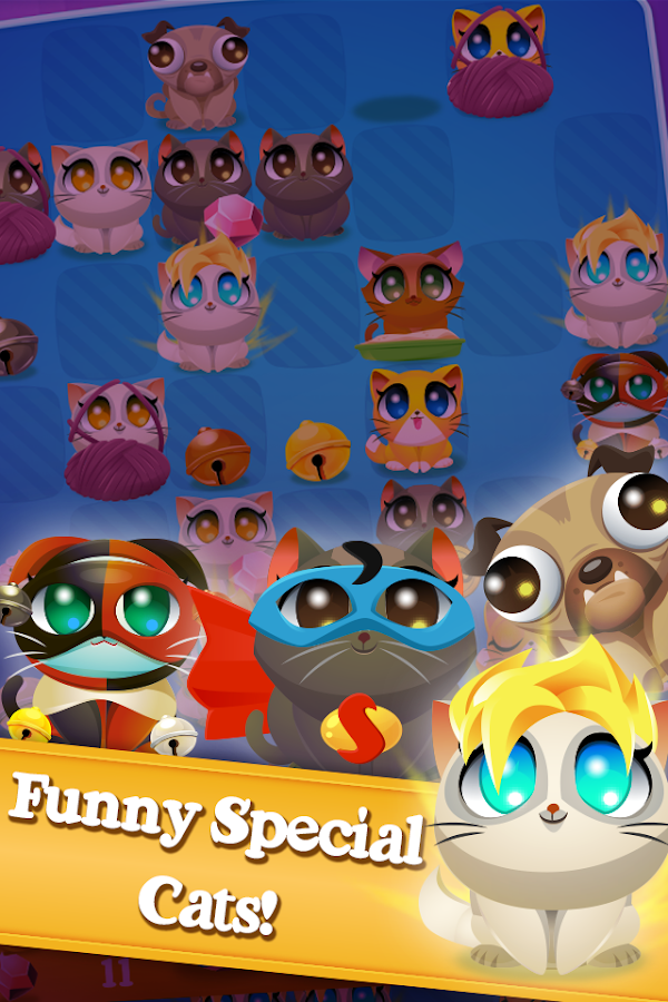 Cute Cats Match 4- screenshot