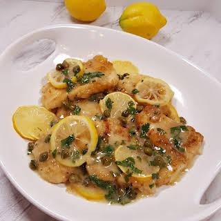 Pressure Cooker Chicken Piccata.